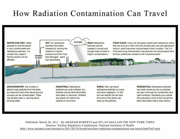 How Radiation Contamination Can Travel