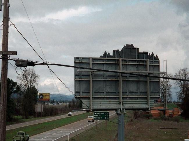 Billboard - back side