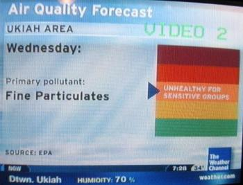 Weather Channel 12-8-2009 air quality in Ukiah